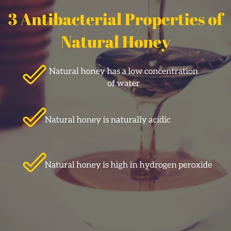 antibacterial properties of natural honey